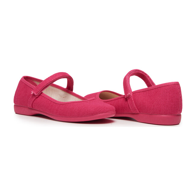 Canvas Mary Janes, Textured Fuschia