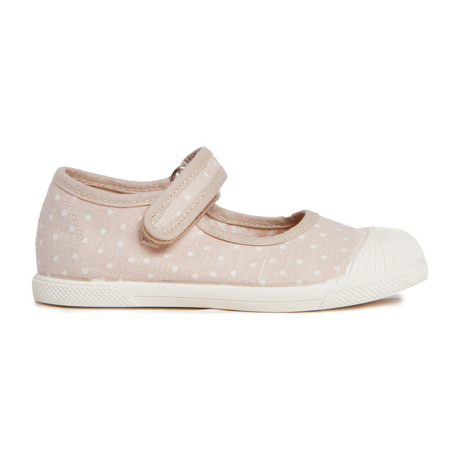 Canvas Mary Jane Sneakers, Taupe Dots
