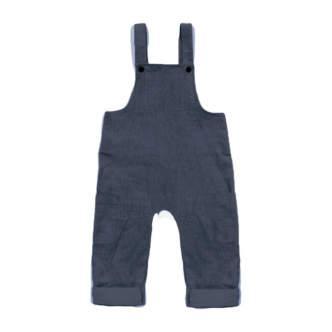 Lucas Corduroy Overall, Charcoal - Overalls - 1