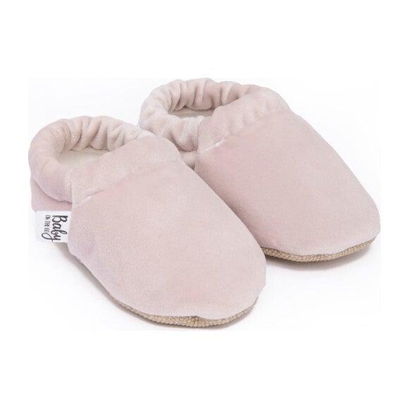 First Steps Slip-On, Pink Velvet - Slip Ons - 1