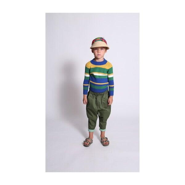 Noah Striped Pullover, Cobalt Mix