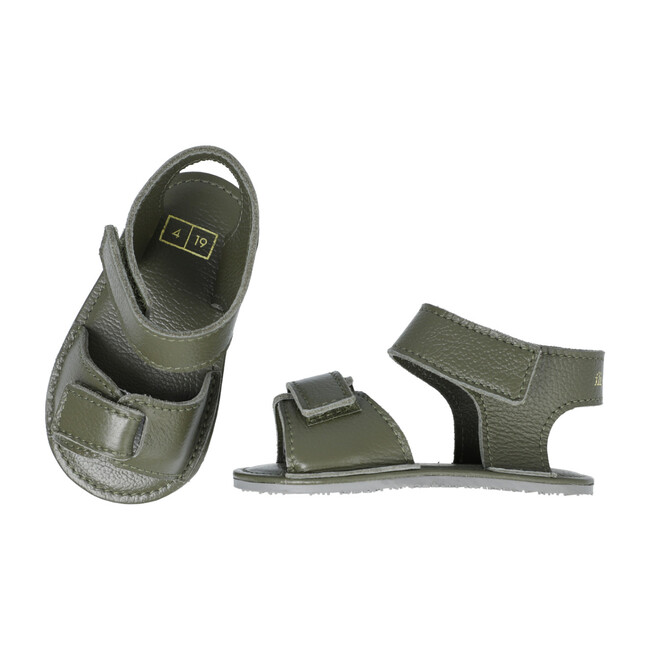 Sporty Velcro Strap Sandals, Cypress