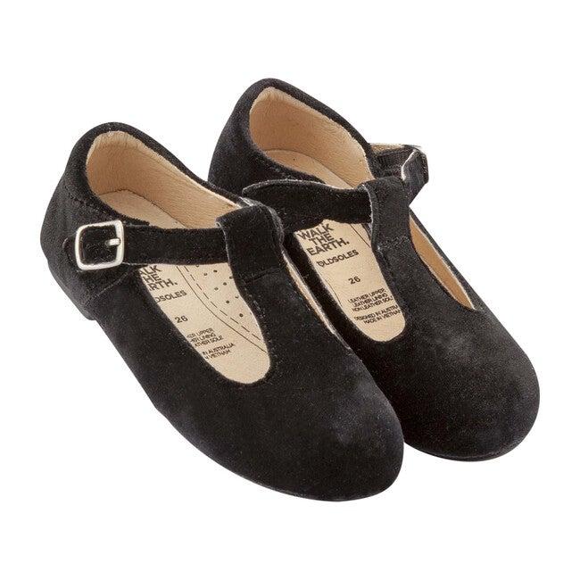 Dusk Praline T-Strap, Black Velvet