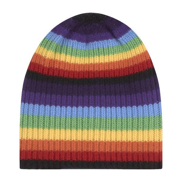 Women's Proteus Beanie, Rainbow Stripe