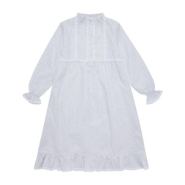 Victoria Night Dress, Silver