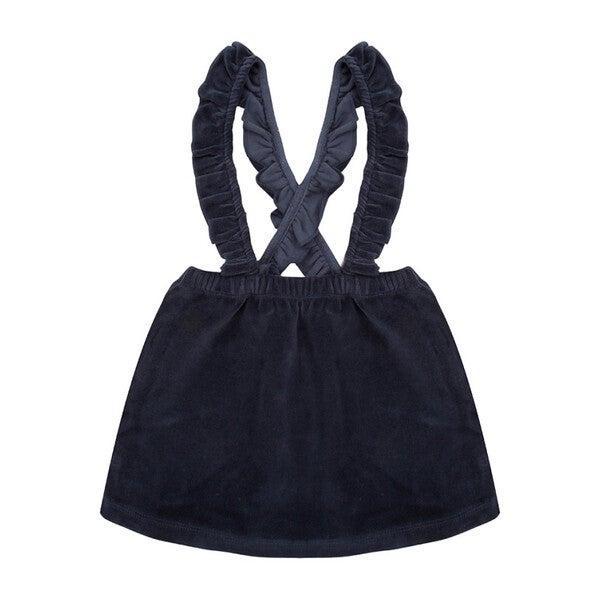 Velour Salopette Dress, Total Eclipse