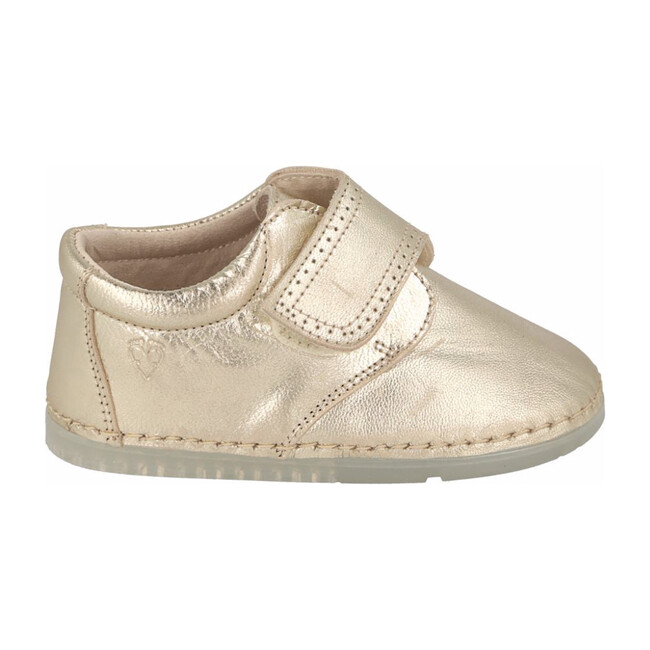 Villena Velcro Monk Shoe, Champagne