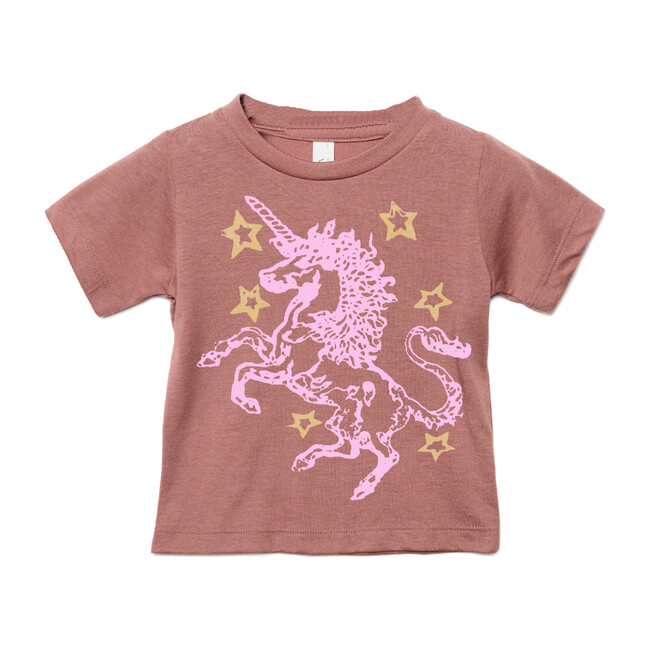 Unicorn Stars Tee, Mauve