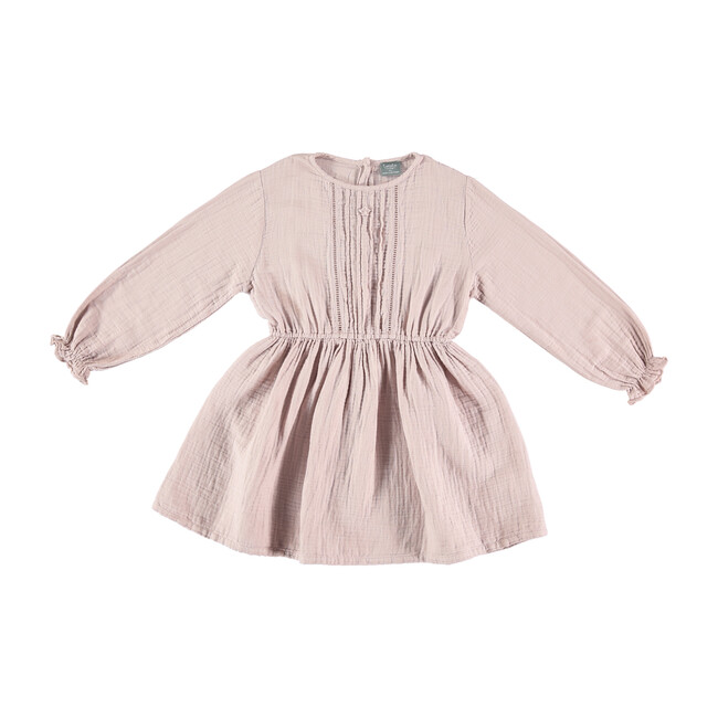 Girls Double Fabric Dress, Pink