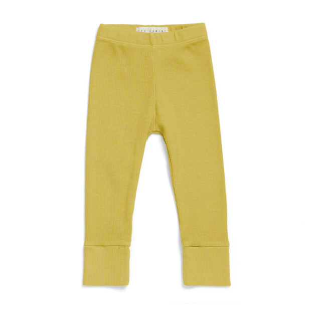 The Ribbed Leggings, Chartreuse