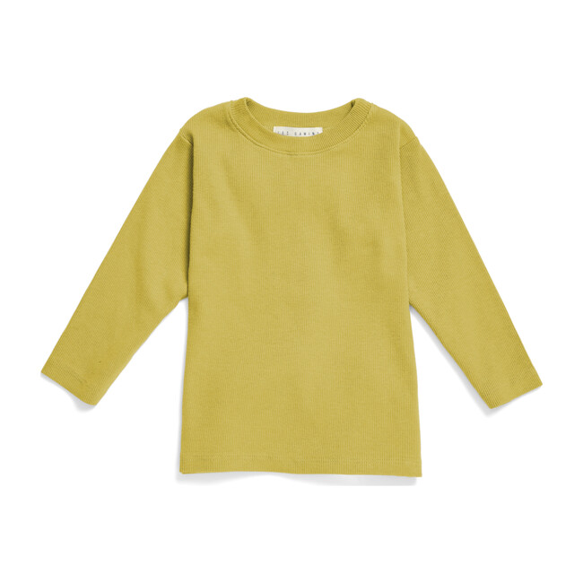 The Long Sleeve Ribbed Tee, Chartreuse