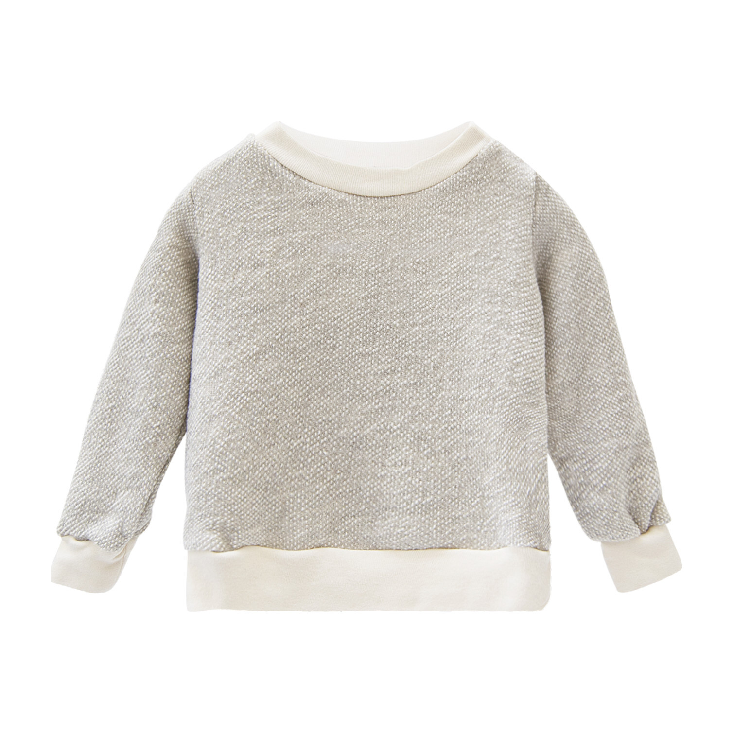 Textured Crewneck, Natural