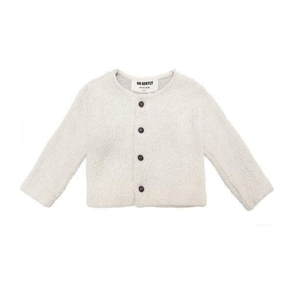 Textured Knit Jacket, Natural