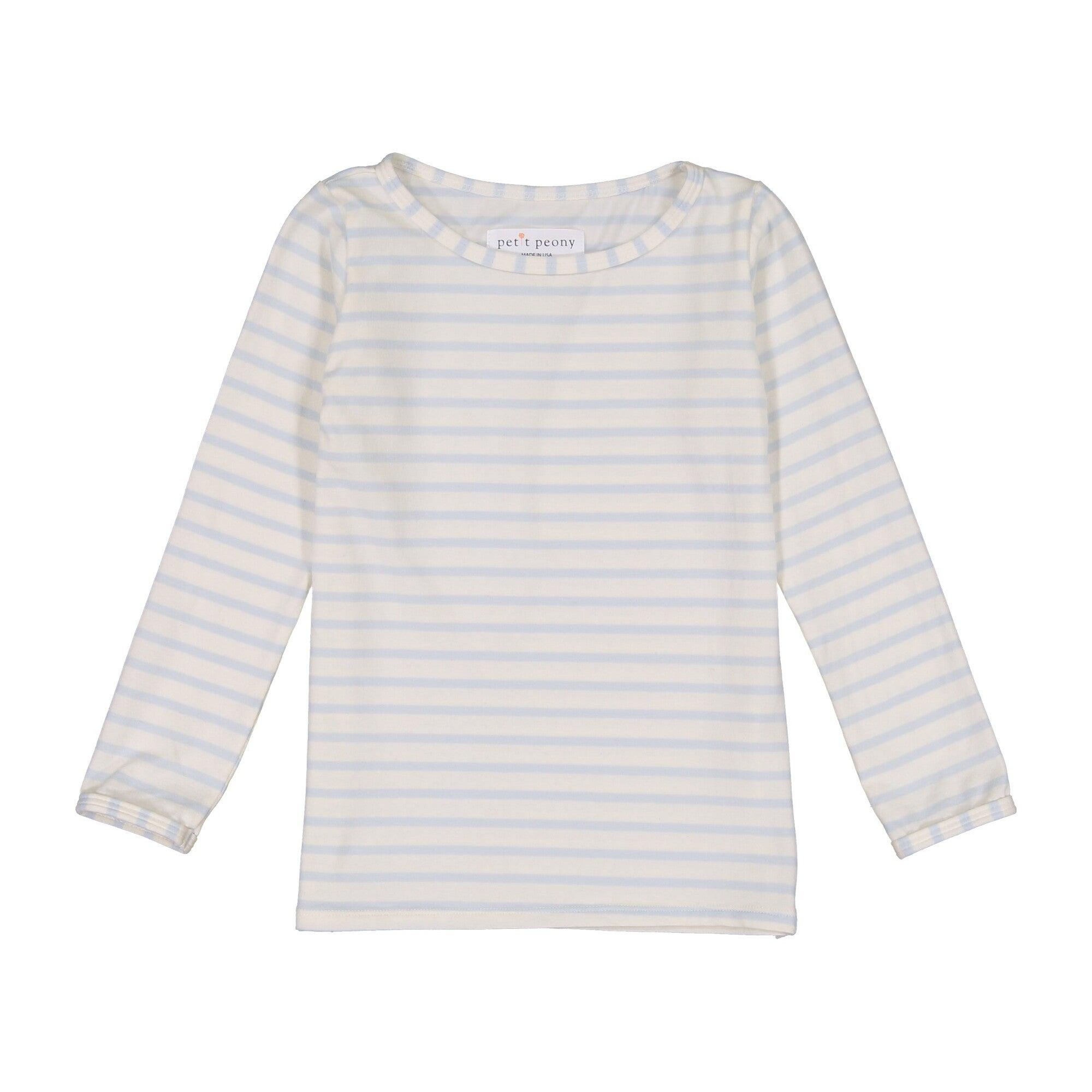 Striped Long Sleeve Shirt, Blue