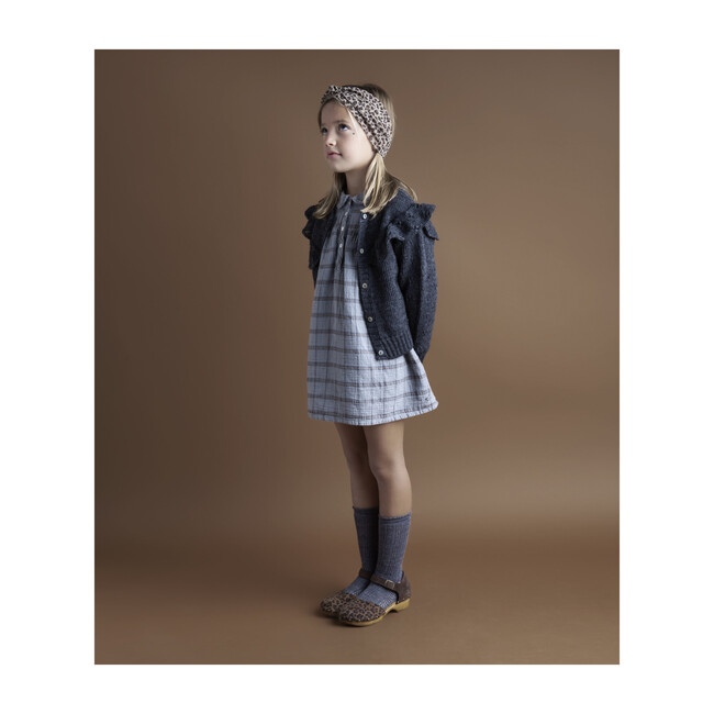 Girls Checkered Collar Dress