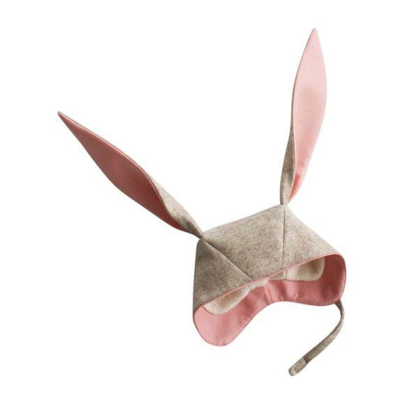 Snow Shoe Bunny Hat, Oatmeal