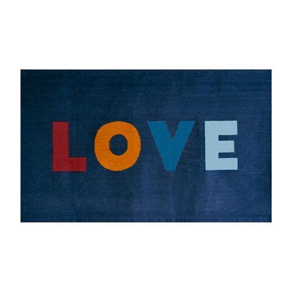 Oeuf Love Rug Navy Blue 4' x 6'