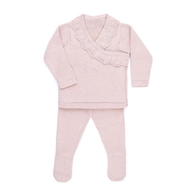 Ruffle Knit Set, Rose
