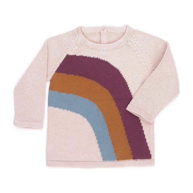 Rainbow Sweater, Rose - Sweaters - 1