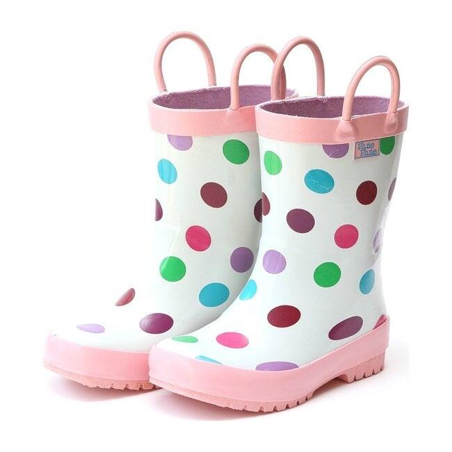 Pluie Pluie Toddler Girls Blue Floral Rain Boots 10