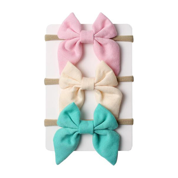 Pastel Mini Bow Headband Bundle