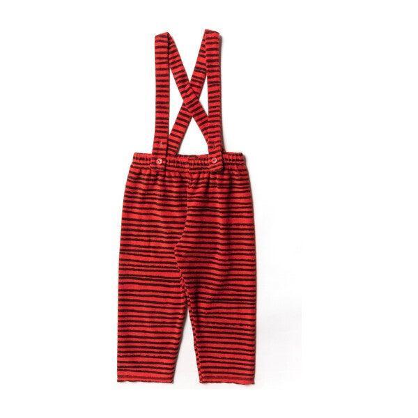Terry Leggings, Red Stripes