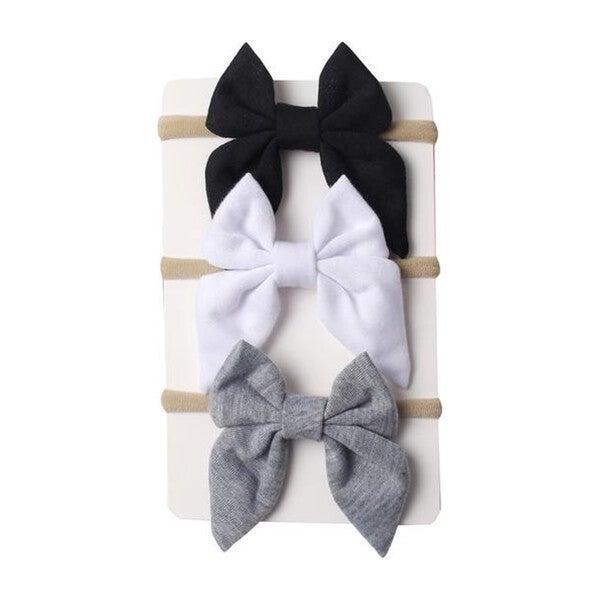 Neutral Mini Bow Headband Bundle