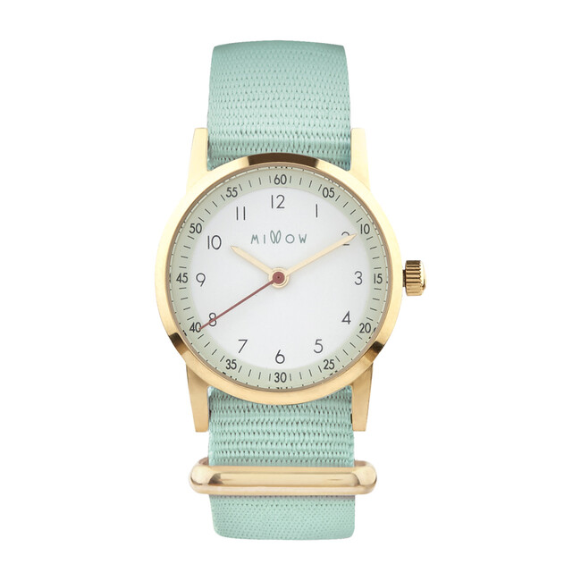 Millow Opale Watch, Mint Green and Gold