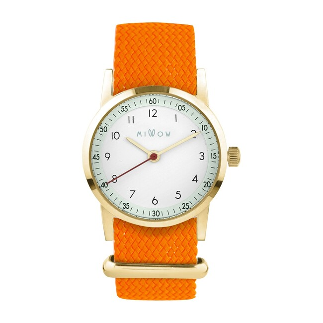 Millow Opale Braided Watch, Orange and Gold