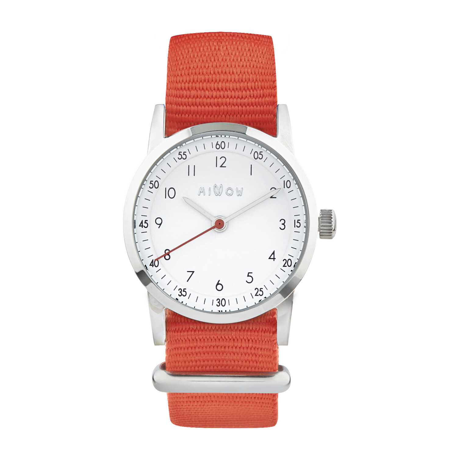 Millow Classic Watch, Paris Red and Silver