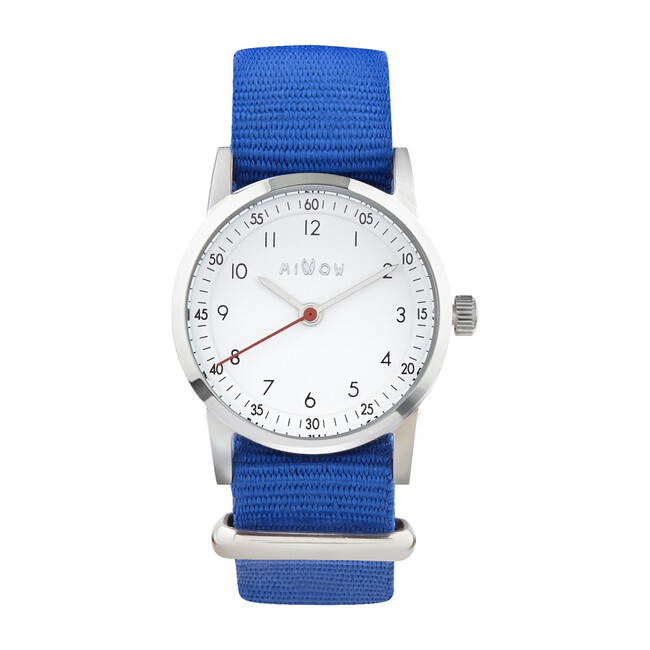 Millow Classic Watch, Royal Blue and Silver