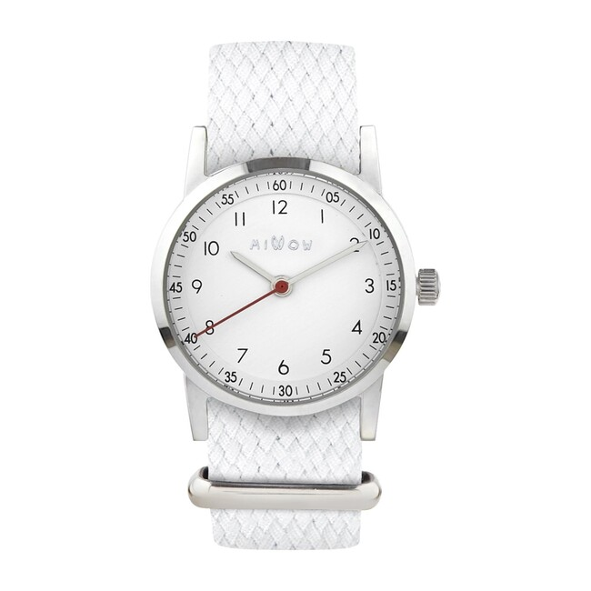 Millow Classic Watch, White and Silver