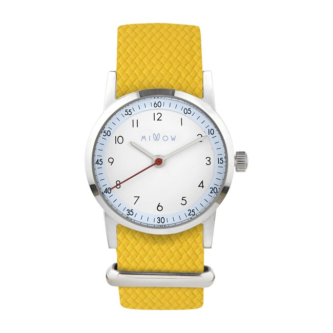 Millow Ciel Braided Watch, Yellow and Silver