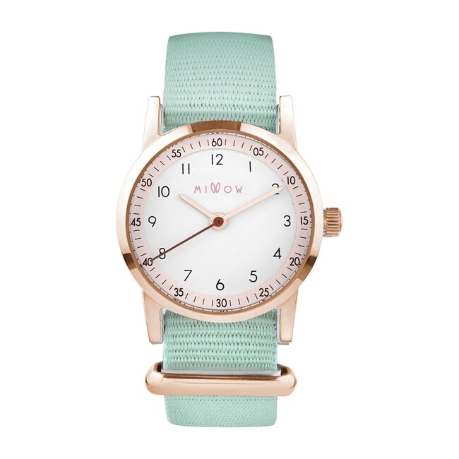 Millow Blossom Watch, Mint Green and Rose Gold
