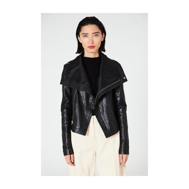 Max Classic Leather Jacket, Black