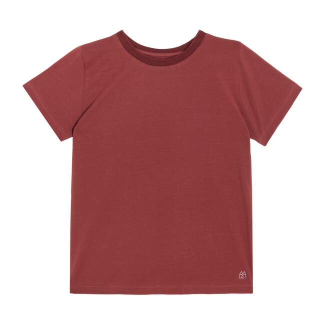 Bailey Short Sleeve Tee, Dusty Red - Shirts - 1