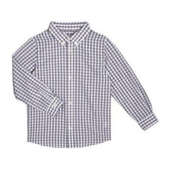 Lucas Long Sleeve Button Down Shirt, Grey Gingham