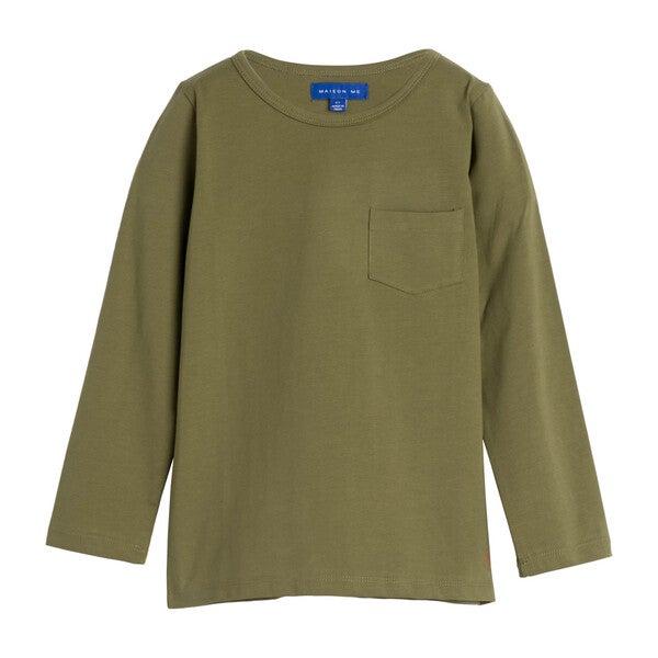 Drew Long Sleeve Pocket Tee, Green