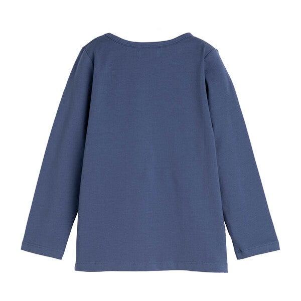 Drew Long Sleeve Pocket Tee, Blue