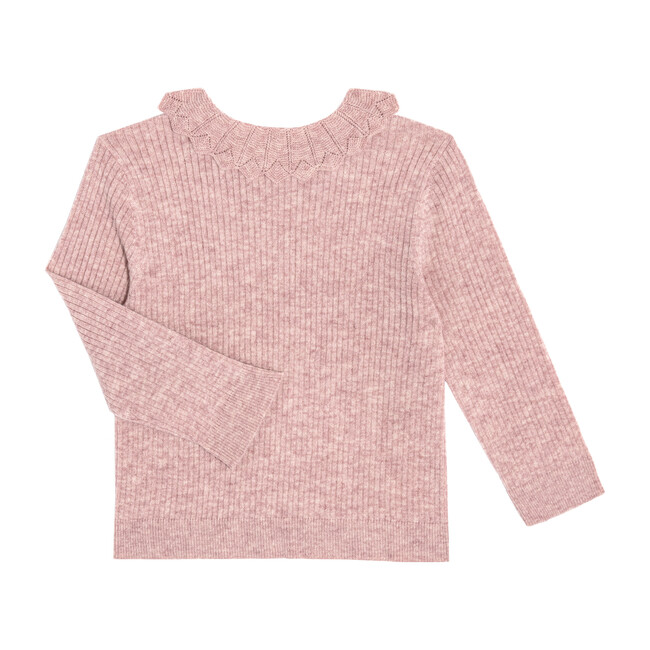Quinn Lacey Collared Sweater, Dusty Rose