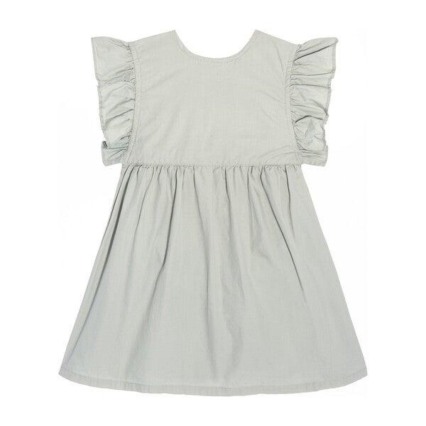 Louise Ruffle Baby Dress, Mint Cotton Poplin