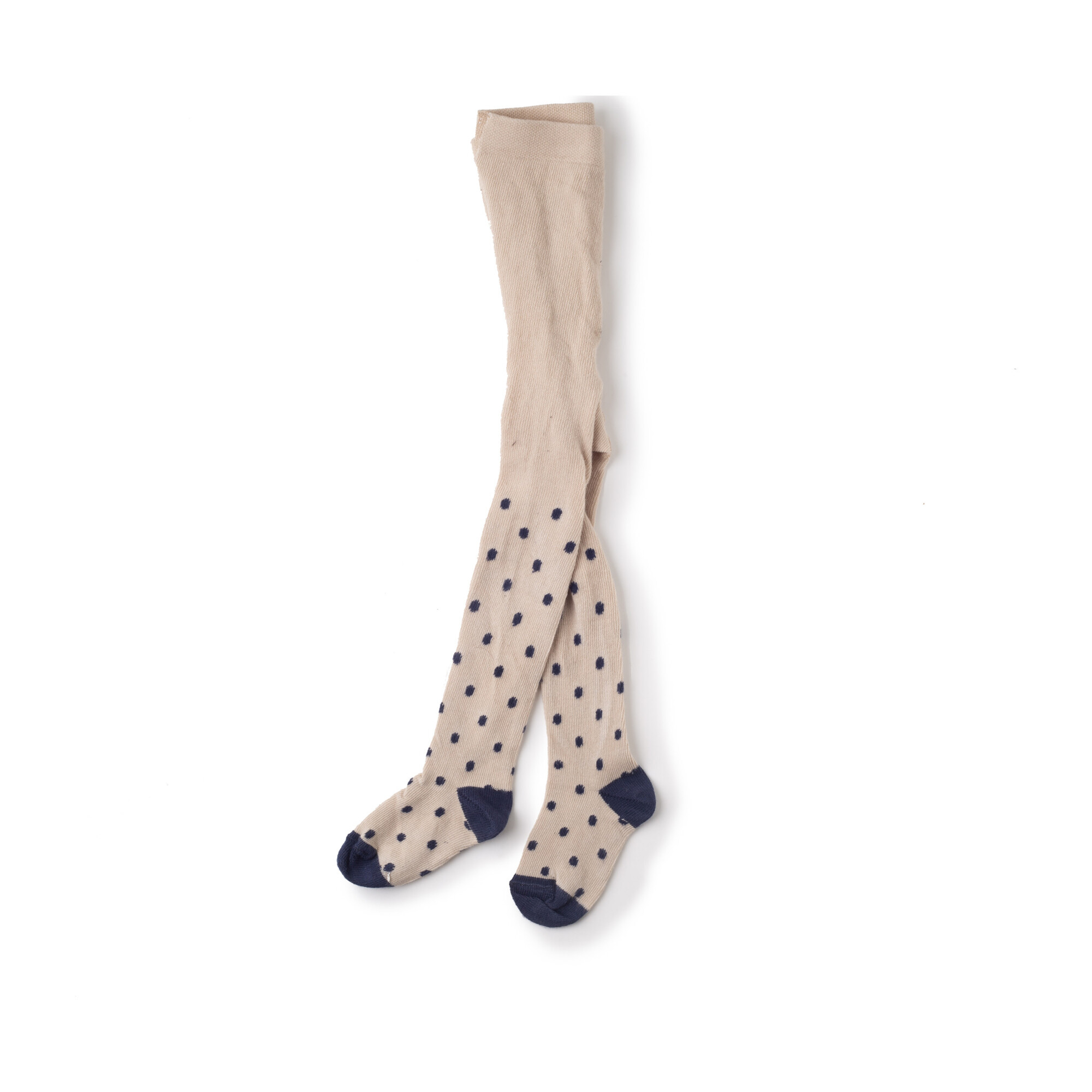 Lou Morgan Tights, Beige with Blue Dot
