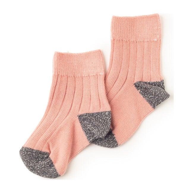 Lou Charlie Socks, Pink Glitter