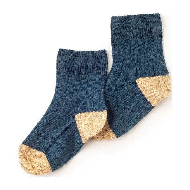 Lou Charlie Socks, Blue Glitter