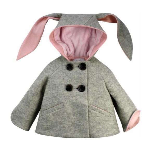 Luxe Bunny Coat, Grey