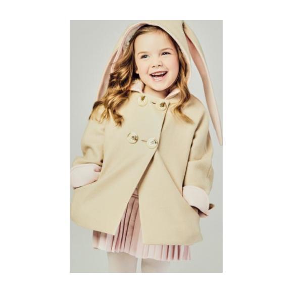 Luxe Bunny Coat, Pink