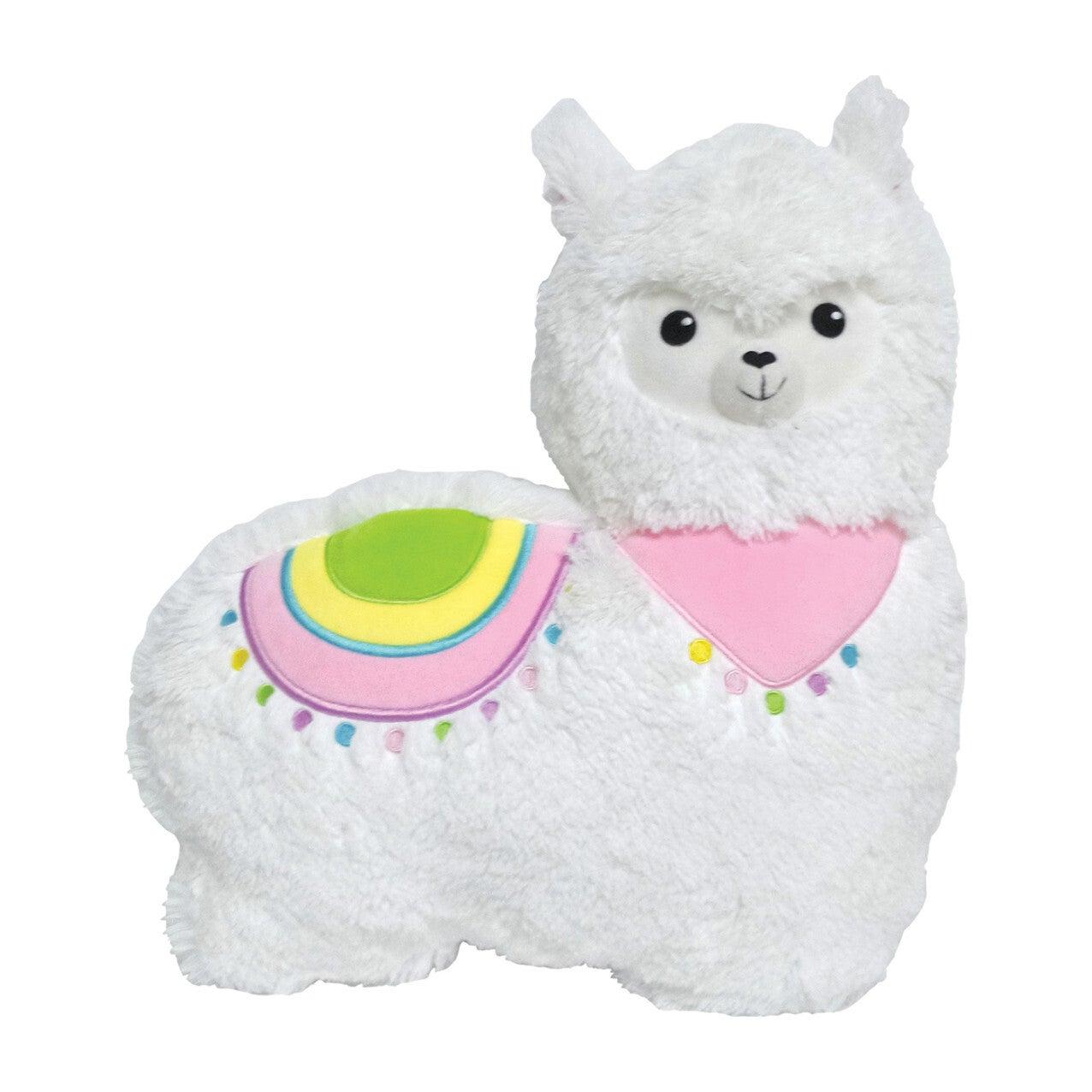 Llama Furry Pillow, White