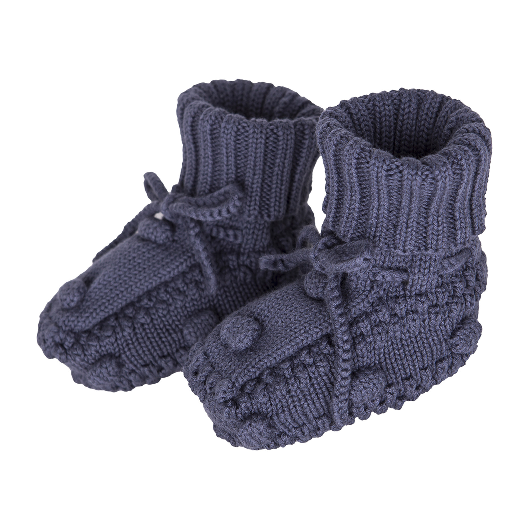 Knitted Booties, Navy