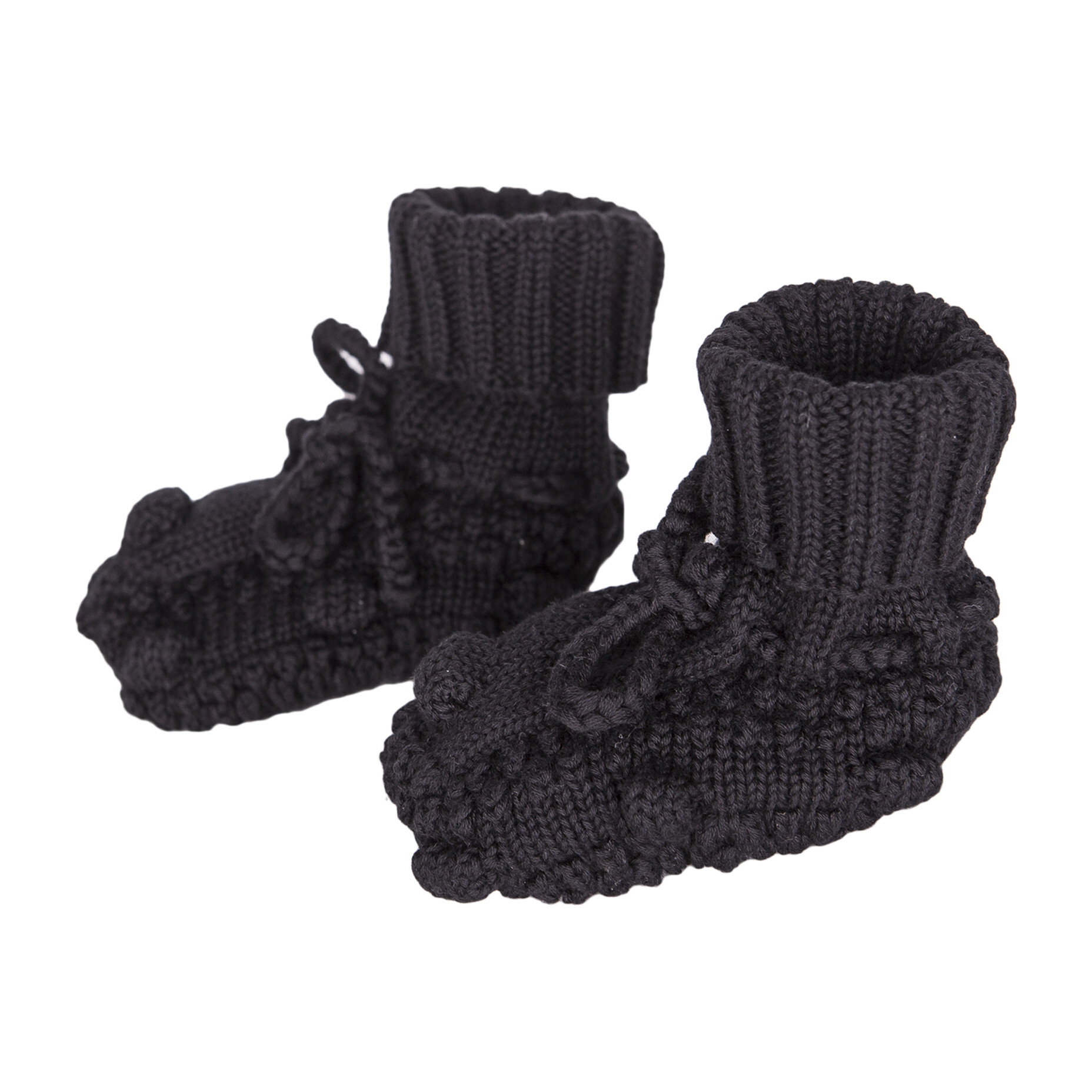 Knitted Booties, Black