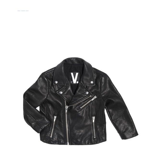 Kid's Boone's Leather Jacket, Black